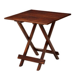 Handcrafted Solid Wood Square Folding Rustic Garden Table