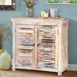 Lumbee Two Door Reclaimed Wood Rustic Storage Cabinet
