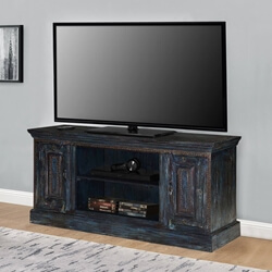 Shaker Midnight Reclaimed Wood Rustic TV Stand Media Cabinet