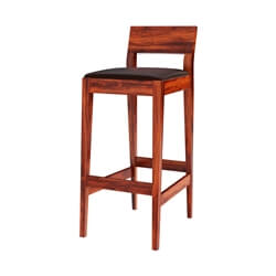 Lincoln Modern Rustic Solid Wood Low Back Tall Bar Chair (Set of 2)