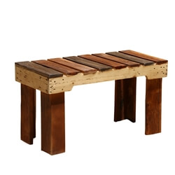 Modern Pioneer Rustic Handmade Patio Table Bench