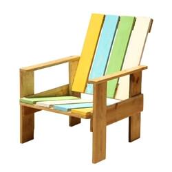 Summer Stripes Adirondack Handmade Patio Chair