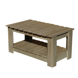 California Comfort Hand Crafted Patio 2-Tier Coffee Table