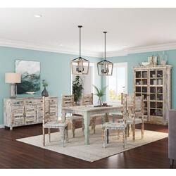 Tucson Rainbow Reclaimed Wood 9 Piece Dining Room Set