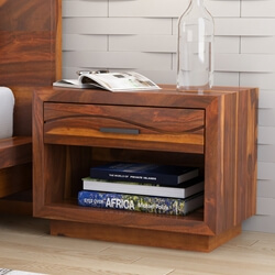 Santa Barbara Solid Wood 1 Drawer Nightstand