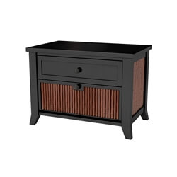 Key West Bamboo Solid Wood Nightstand with Drawer
