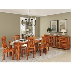 Idaho Modern Rustic Solid Wood Dining Room Set