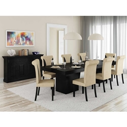 Urban Rustic Solid Wood 10 Piece Dining Room Set