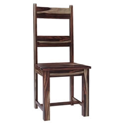 Frisco Modern Rustic Solid Wood Ladder Back Dining Chair