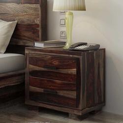 Virginia Modern Handcrafted Solid Wood 2 Drawer Nightstand
