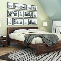 Roanoke Rustic Solid Wood Handcrafted Platform Bed