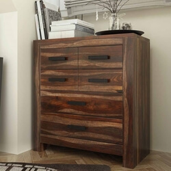 Roanoke Rustic Solid Wood 6 Drawer Modern Bedroom Dresser