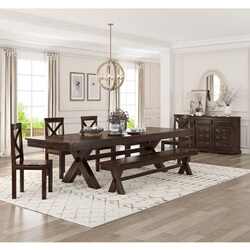 Westside Rosewood 8 Piece Large Extensions Dining Room Set