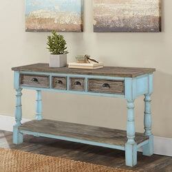 Toronto Rustic Recycled Teak & Solid Wood Console Table