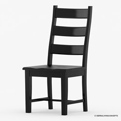 Nottingham Chic Black Ladder Back Rosewood Dining Chair
