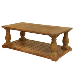 Reclaimed Teak Wood Balustrade Coffee Table