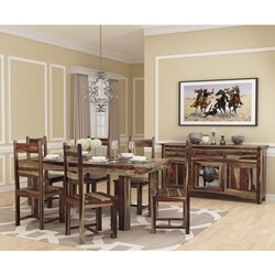 Frisco Modern Handcrafted Solid Wood Dining Room Set
