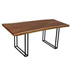 Piketon Solid Wood Single Slab Live Edge Large Dining Table