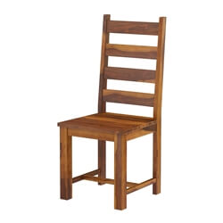 Cloverdale Solid Wood Sturdy Ladder Slat Back Dining Chair