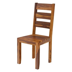 Cariboo Contemporary Rustic Solid Wood Ladder Back Dining Chair