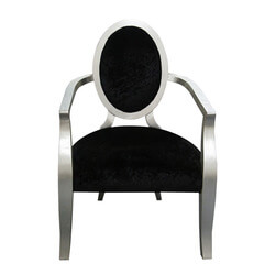 Artesia Contemporary Solid Wood Velvet Fabric Arm Chair