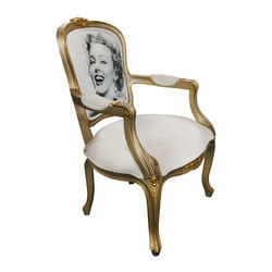 Davis Marilyn Monroe Mahogany Wood Traditional Royal Arm Chair