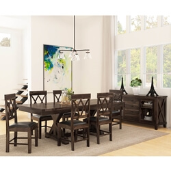 Antwerp Solid Wood 8 Piece Extension Dining Room Set