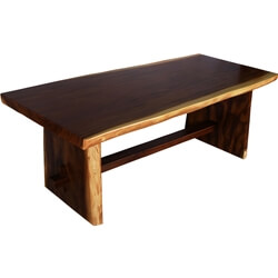 Lancaster Single Slab Suar Wood Live Edge Dining Table