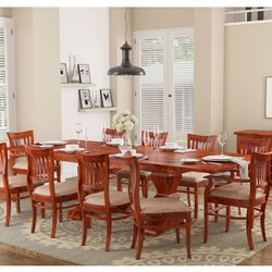 Chantilly Chic Solid Wood Extendable Dining Table with 10 Chairs Set