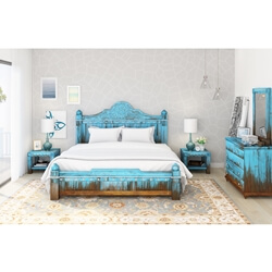 Empire Blue Dawn 5 Piece Bedroom Set