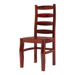 Minsk Rustic Traditional Rosewood Ladder Back Dining Chair