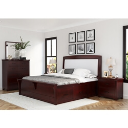 Vindemia 4 Piece Bedroom Set