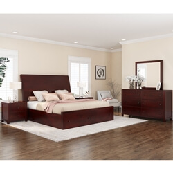 Petros Transitional 4 Piece Bedroom Set