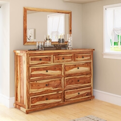 Larvik Rustic Solid Wood 9 Drawer Dresser