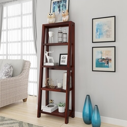Hagerstown Solid Wood 4 Open Shelf Ladder Leaning Bookcase