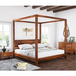 Osteen Contemporary 4 Piece Bedroom Set