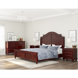 Iowa Traditional Style Mahogany Wood 4 Piece Bedroom Set