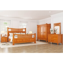 Longport Traditional Style 6 Piece Bedroom Set