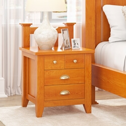 Longport Traditional Style Mahogany Wood 4 Drawer Nightstand