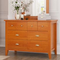 Longport Traditional Style Mahogany Wood 8 Drawer Dresser