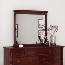 Cayuta Traditional Style Solid Mahogany Wood Mirror Frame