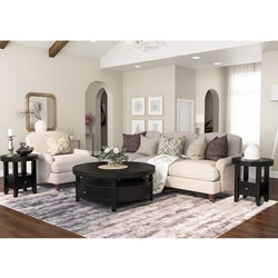 Toledo Solid Wood 3 Piece Round Coffee Table Set