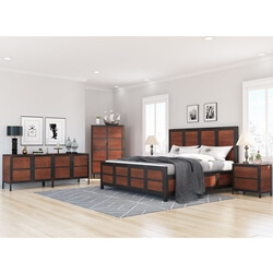 Kagawa 5 Piece Industrial Bedroom Set