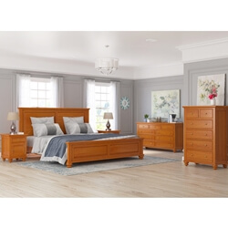 Wamsutter Mahogany Wood 5 Piece Bedroom Set