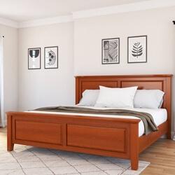 Kristoff Solid Mahogany Wood Platform Bed