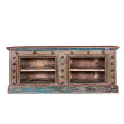 Lakeridge Reclaimed Wood Furniture Open Shelved TV Media Console