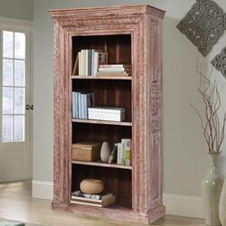 Eunola Reclaimed Wood Furniture 4 Open Shelf Standard Bookcase