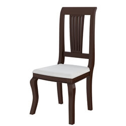 Cromberg Solid Mahogany Wood Upholstered Dining Chair