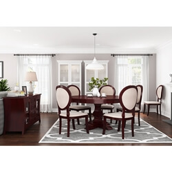 Aripeka Solid Mahogany Wood 8 Piece Dining Room Set