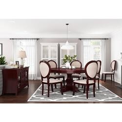Aripeka Solid Mahogany Wood 8 Piece Dining Room Set